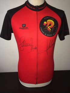 Fränk and Andy Schleck - Cycling shirt original signed by both