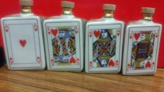 Cognac Frapin X.O. - Playing Cards miniature set - 4 Bottles of 5cl each