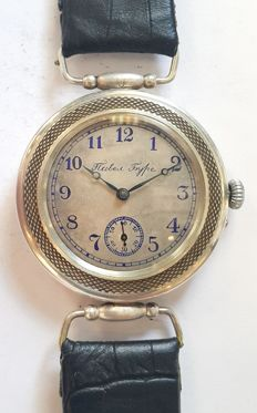 Paul Buhre, Early Marriage Wristwatch, Switzerland,1910s