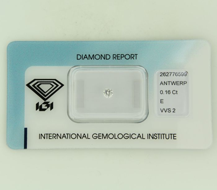 0.16 ct brilliant cut diamond E VVS2