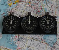 Very rare vintage HEUER MONTE CARLO + SEBRING + AUTORALLY dash mounted set. 1968-1975.