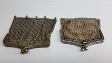 800 silver antique wallets/purses, handmade, no reserve!