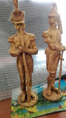 Pair of statues in solid bronze - 1950s - Italy