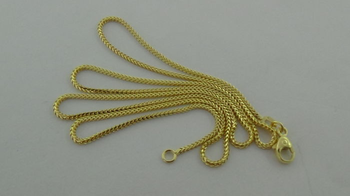 14 kt Gold curb link necklace –  Length: 50.5 cm