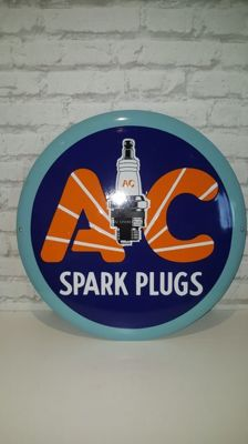 AC spark plugs - Round sign - Around the year 2000