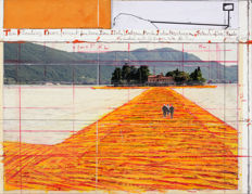 Christo - The Floating Piers - Project for Lake Iseo