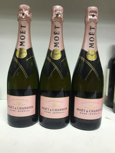 Moët & Chandon Brut Rose, Champagne - 3 bottles (0,75l)