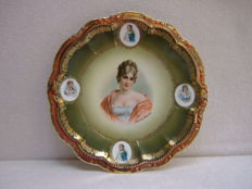 Antique plate with beautiful Juliette Récamier