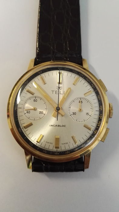 Tell chronograph – NOS – For men – Year: 1960