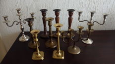 Collection of 10 candlesticks, 2nd half 20th century