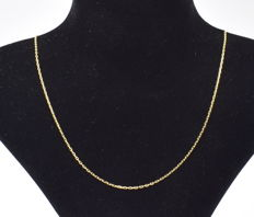 14 K yellow gold Necklace - 45 cm