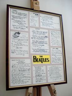 The Beatles :  reproductions of original hand-written lyrics and fragments of ten classic Beatles records