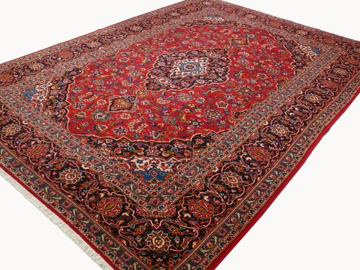 Fine Persian carpet – Kashan – 3.57 x 2.52 – red hand-knotted, high-quality new wool, oriental carpet GREAT CONDITION no. 19
