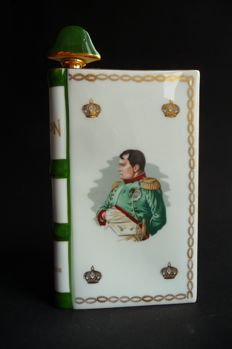 Napoleon Camus Cognac Special Edition Book Bottle Decanter Porcelain 22C Gold