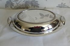 Silver plated serving plate by James Dixon & Sons