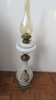 Napoleon Table Lamp Bristol Glass 1874