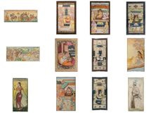 Collection of mini paintings in ivory - India - circa 1880-1920