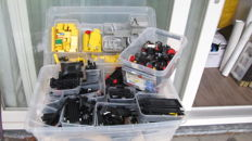 Assorted, Lego 7 kilograms, black, light grey, yellow and wheels
