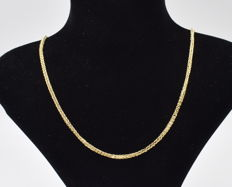 14 K yellow gold Necklace  ,  chain length :  45 cm