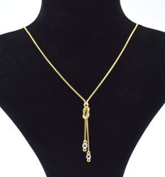 14 K yellow and white gold Necklace