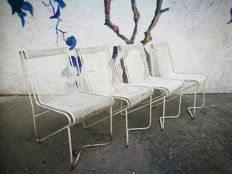 "Mathieu Matégot – ""Tit Mellil"" set of four chairs"