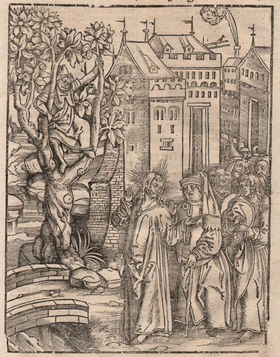 Hans Franck ( 1485 - 1522 ) - Christ encountering Zacchaeus the tax collector -Between 1509-1517