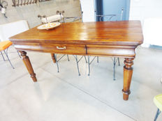 Elm dining table - Italy - 20th century
