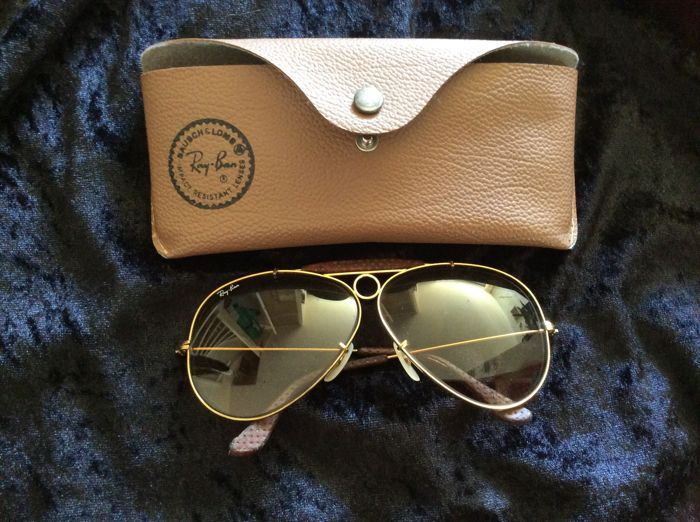 Ray Ban Aviator - Shooter - sunglasses - gold-coloured frame - Men