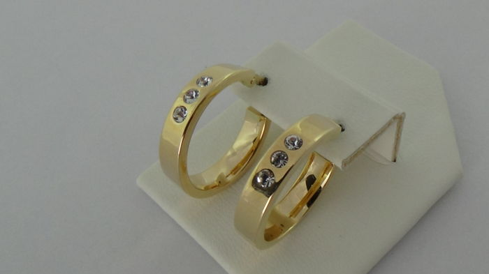 14 kt Gold Earrings – Diameter: 18.5 mm