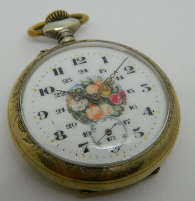 Pocket watch with cylinder escapement