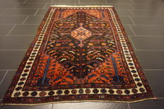 Old, highly valuable Persian carpet - old Bidjar - made in Iran - plant dyes - 130 x 195 cm