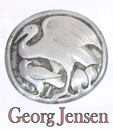 Silver brooch signed by Georg Jensen made between 1933 and 1944, Reduced price