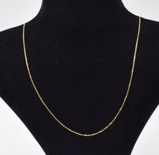 14 K yellow gold Necklace - 44 cm