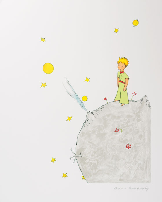 Antoine de Saint-Exupéry (after) - Le Petit Prince sur l'astéroïde B-612 (The Little Prince on Asteroid B-612)