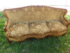 Vintage three seat sofa in Louis Philippe style, early 20th century, France