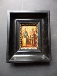 Icon in a black frame - RUSSIA - early 20th century
