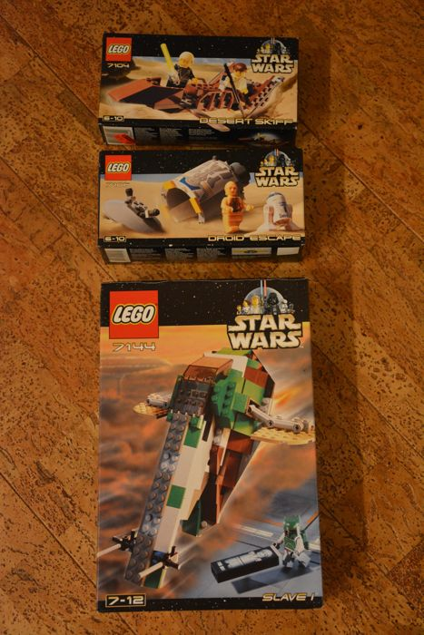 Starwars - 7104 + 7106 + 7144 - Desert Skiff + Droid Escape + Slave I