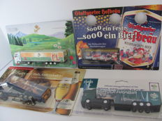 Various - Scale 1/87 - Lot with 77 Models: Brewery trucks, advertising trucks, 1995-2005, Germany