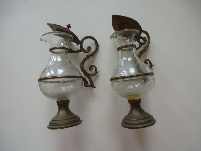Antique holy water fonts - Belgium - early 20th century