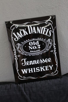 "Old enamel advertising sign ""Jack Daniels "" - 1980s"