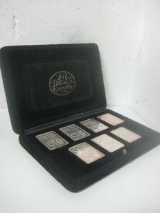Case of Salvador Dalí: seven pure silver ingots, 'Seven Days of Creation'. Limited Edition.