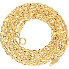 21 kt - yellow gold elegantly braided necklace - length: 46 cm