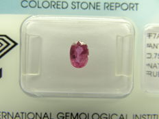 Ruby  – 0.75 ct