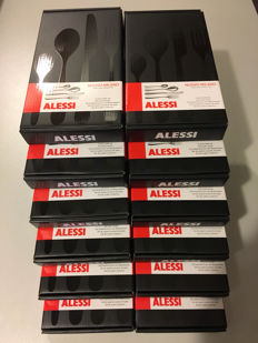 Alessi 48-piece cutlery set Nuovo Milano Ettore Sottsass 12 sets new in box