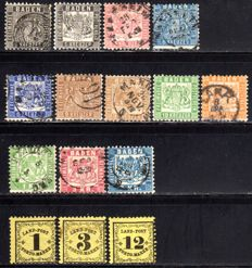 Baden - 1862 - collection with Michel 17-25 and Porto 1-3