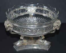 Silver pastry tray / fruit bowl, Wilkens & Söhne, Bremen / Germany, around 1900