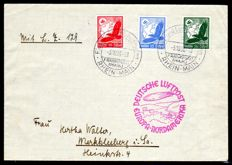 German Reich - 1936 - Zeppelin post, North America journey with boarding cancellation and arrival cancellation New York, Sieger 441 C