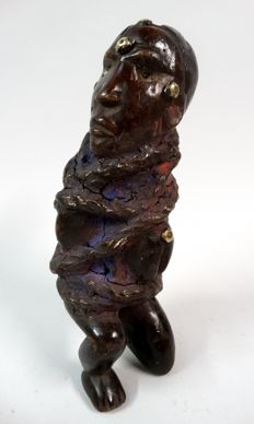 Fetish figure nkisi from the Bacongo tribe living in D.R. Congo