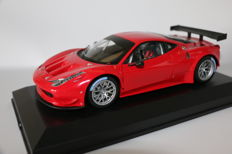 Hot Wheels Elite - Schaal 1/18 - Ferrari 458 GT3 - Rood