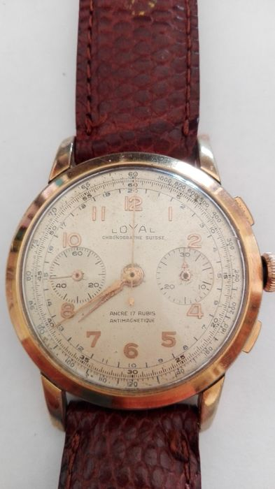Chronograph by Loyal, men's watch from the 1960-1970s
